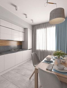40 Relaxing Minimalist Kitchen Design Ideas - Home Design - Interior Desing, Interior Modern, Home Interior, Interior Design Kitchen, Coastal Interior, Luxury Interior, Interior Ideas, Ok Design, Design Case