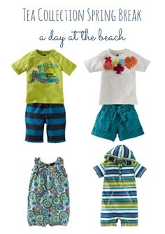 Tea Collection Spring Break sibling outfits for a day of exploring at the beach