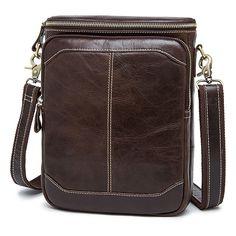 60.00$  Watch here - http://aliga4.worldwells.pw/go.php?t=32744119624 - Sale Brand Quality Natural Genuine Leather Bag Men Bucket Messenger Bags Men's Cowhide Shoulder Crossbody Bag Dollar Price G048 60.00$