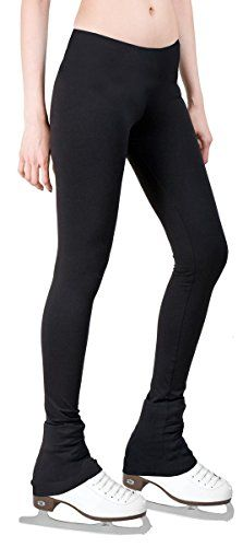 Figure Skating Pants with 2-tones Waistband (Black, Adult Extra Small) * Click image for more details.