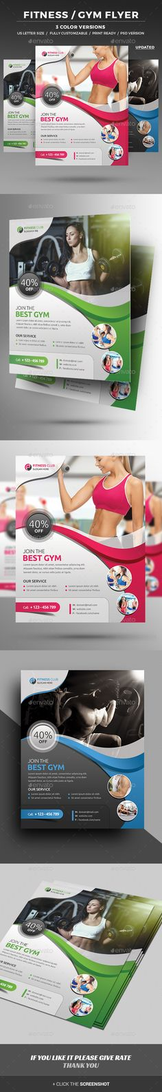 #Fitness #Flyer - #Corporate Flyers Download here: https://graphicriver.net/item/fitness-flyer/11629061?ref=alena994
