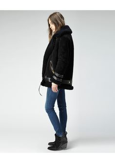 Velocite Suede Shearling Moto Coat | Coats, Acne studios and Studios
