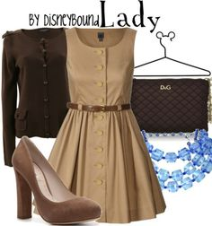 disneyBound Lady from Lady and the Tramp inspired outfit. I like the dress!