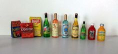 Miniature Drinks & Snacks 1 inch dollhouse by MarquisMiniatures