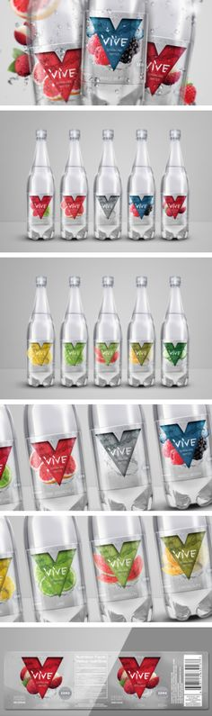 VIVE Sparkling Water packaging by HeadMade Design & Co.