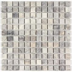 Silver Travertine Tumbled 1x1 Mosaic Tile from http://allmarbletiles.com