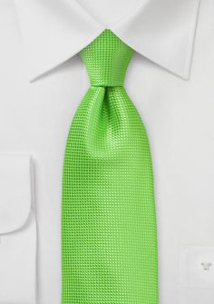 Bright Summer Tie in Tropical Green