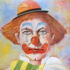 Lawrence Crowell Art Print Litho Signed Clown by TheVintagePhilly