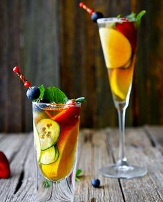 Pimm's gingery drink