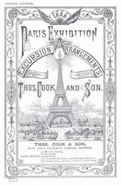 A vintage brochure from 1889 for a Paris excursion by Thomas Cook & Son