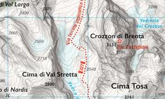 Meravigliosa mappa online delle Dolomiti di Brenta, realizzata dal cartografo Marco Barbieri. E' a mio avviso la più bella mappa per escursionismo mai vista realizzata sfruttando i dati liberi di #Openstreetmap