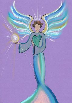 This is Emanuel, who brings orb energy to his human charge and a reflection of her beautiful inner Light. Want one for yourself? You can see how to do it at www.angellightheart.com and look under angel art/intuitive angel drawing