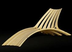 Modern Design Bamboo and Stainless Steel Lofoten Lounge by Corey Baker