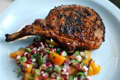 Cumin-Crusted Pork Loin Chop from - Cumin seeds and smoked paprika add a burst of flavor to lean pork chops. Glazed Pork Chops, Pork Loin Chops, Pork Tenderloin Recipes, Pork Chop Recipes, Grilling Recipes, Fast Recipes, Healthy Pork Chops, Fast Healthy Meals, Healthy Eats