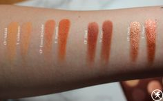 Colourpop Double Entendre vs. Tarte Toasted Swatches Second Row No Flash