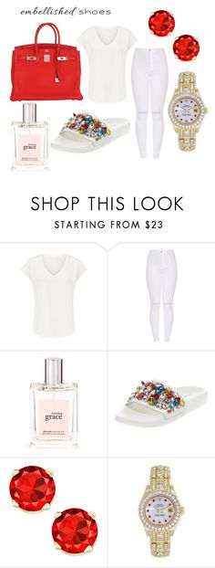 """""""Casual Cinderella"""" by melaninfeminist ❤ liked on Polyvore featuring philosophy, Neiman Marcus, Rolex and Hermès"""