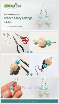 rhinestone beaded earrings with pearls