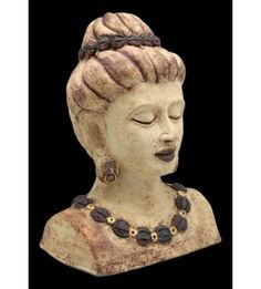 Rudraksha Woman Stoneware Sculpture