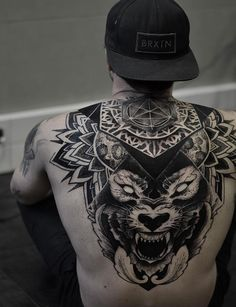 Heavy blackwork back piece by Otheser