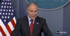 EPA head Scott Pruitt, who has publicly questioned the science of global warming, took pains to frame President Donald Trump's withdrawal from the Paris accord as something done in the interest of the environment. (Screenshot: White House)