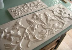 Large hand pressed decorative tiles by Andersen Ceramics, Austin TX Country Kitchen Tiles, French Country Kitchens, French Kitchen, French Country Cottage, French Country Decorating, Kitchen Backsplash, Country Bathrooms, Backsplash Ideas, Spanish Home Decor