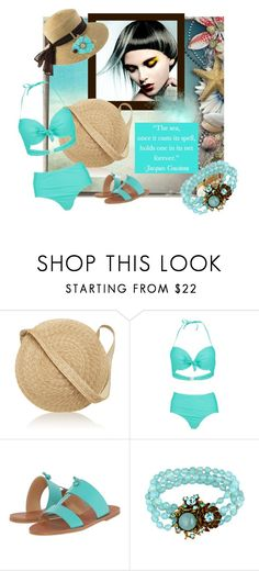 """""""Minty Day"""" by lavalu-1 ❤ liked on Polyvore featuring Samuji, Boohoo, Lucky Brand, Coolibar, Miriam Haskell and mint"""