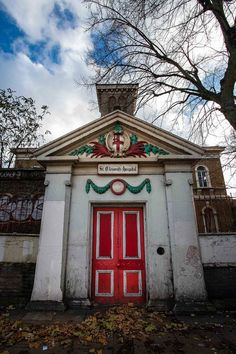 the disused St Clement's Hospital in Mile End, London