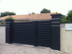 1000 ideas about portail aluminium on pinterest portillon aluminium porta - Portillon double battant ...
