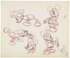 Mickey Mouse Model Sheets | Mickey Mouse Model Sheet Concept Art Attributed To Fred Moore