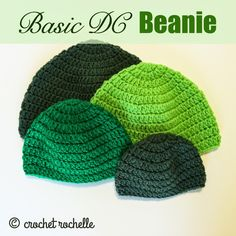 Crochet Rochelle: Basic DC Beanie Pattern OMG,!!!! I NEVER COULD COULD DO HATS THIS ONE WORK I GOT IT NOW
