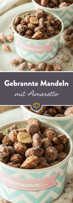 Gebrannte Amaretto-Mandeln aus der Mikrowelle With the microwave method, nothing really can go wrong and you've conjured delicious caramelized almonds in no time Party Food And Drinks, Snacks Für Party, Gluten Free Scones, Sandwich Bar, Biscuit Cookies, Vegetable Drinks, Food Humor, Food Inspiration, Cookie Recipes