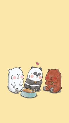 Cute Panda Wallpaper, Funny Phone Wallpaper, Bear Wallpaper, Cute Disney Wallpaper, Cute Wallpaper Backgrounds, Animal Wallpaper, Dont Touch My Phone Wallpapers, We Bare Bears Wallpapers, Panda Wallpapers