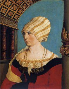 Hans Holbein the Younger (c.1497-1543) — Portrait of Dorothea Meyer, nee Kannengiesser,  1516 (2550×3318)