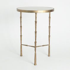 Accent Table with White Marble