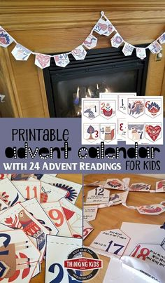 Printable Advent Calendar for Kids with 24 Advent Readings This printable Advent calendar for kids has 24 daily Scripture Advent readings. Point your children toward Christ with this easy-to-make Christmas craft! Advent For Kids, Advent Calendars For Kids, Kids Calendar, Advent Ideas, Christmas Activities, Christmas Crafts, Christmas 2017, Christmas Ideas, Christmas Worksheets
