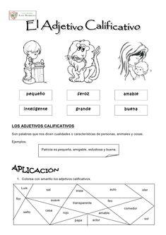 actividades con adjetivos para segundo grado - Buscar con Google