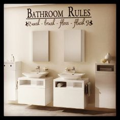 Bathroom Wall Vinyl Decal.                                8 days left on our APRIL SPECIAL 20% OFF on all Wall Vinyl Decals.                                   www.79graphix.com