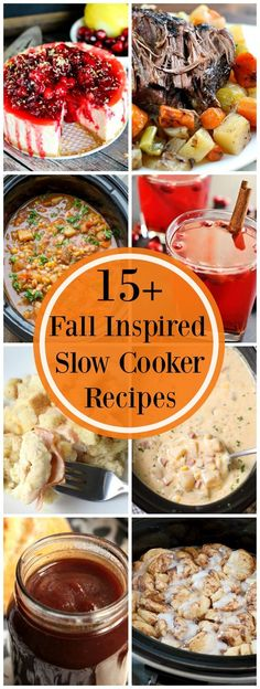 15+ Fall Inspired Slow Cooker Recipes Fall Crockpot Recipes, Slow Cooker Recipes, Fall Recipes, Dinner Recipes, Cooking Recipes, Crockpot Meals, Delicious Recipes, Dinner Ideas, Crockpot Dishes
