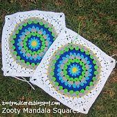 Ravelry: Zooty Mandala Square pattern by zelna olivier.. Free pattern!