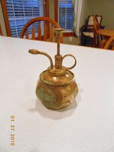 Vintage Brass Copper Pump Spray Oil by CountryMileCottage on Etsy