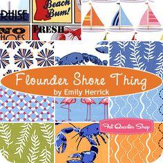 Flounder Shore Thing Fat Quarter Bundle Emily Herrick for Michael Miller Fabrics - Fat Quarter Shop