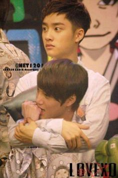 Kaisoo ... possessive much? Haha x) but i keep looking at  the face in the background.