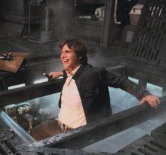 Behind the scenes photo of Harrison Ford on set for Star Wars Star Wars Film, Star Trek, Star Wars Love, Star War 3, Star Wars Art, Rick Deckard, Harrison Ford, Indiana Jones, Images Star Wars
