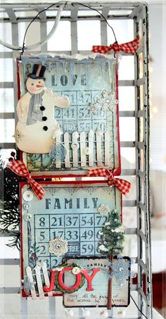 Great Holiday deco Linda Albrecht at Christmas Snowman, Handmade Christmas, Vintage Christmas, Christmas Holidays, Christmas Bingo, Christmas Calendar, Xmas, Christmas Projects, Holiday Crafts