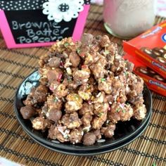 Brownie Batter Cookie Dough Popcorn recipe