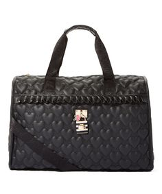 Another great find on #zulily! Betsey Johnson Black Quilted Heart Be Lockable Weekender Bag by Betsey Johnson #zulilyfinds