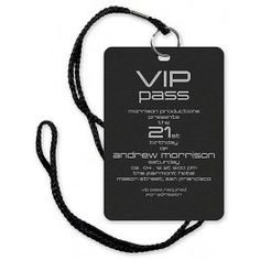 VIP Pass Invitation with Lanyard