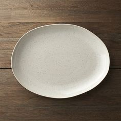 Wilder Large Oval Platter | Crate and Barrel 18.5 x 14