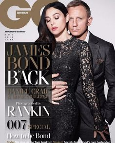 British GQ Daniel Craig & Monica Bellucci by Rankin with styling by Gareth Scourfield x The November 2015 Cover of GQ UK Hair by Cédric Kerguillec Makeup by Letizia Carnevale James Bond Daniel Craig, Daniel Craig Spectre, Terry Richardson, Monica Bellucci, Daniel Graig, Gq Magazine, Magazine Covers, Italian Actress, Por Tv