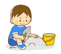 He likes to dig in the sand. Childhood Education, Kids Education, Play School Activities, Baby Clip Art, Boy Character, Cute Clipart, Cartoon Pics, Baby Bibs, Funny Kids